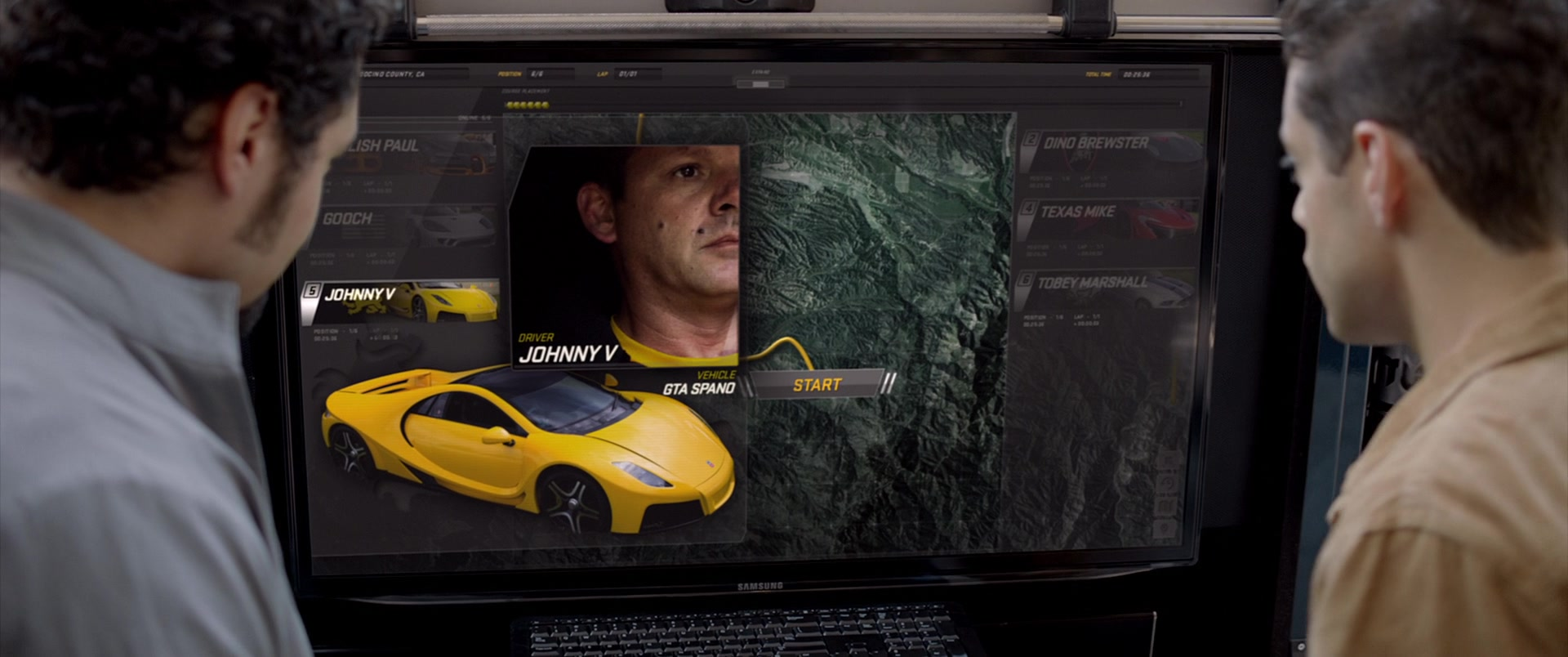 Samsung Monitor in Need for Speed (2014) Movie
