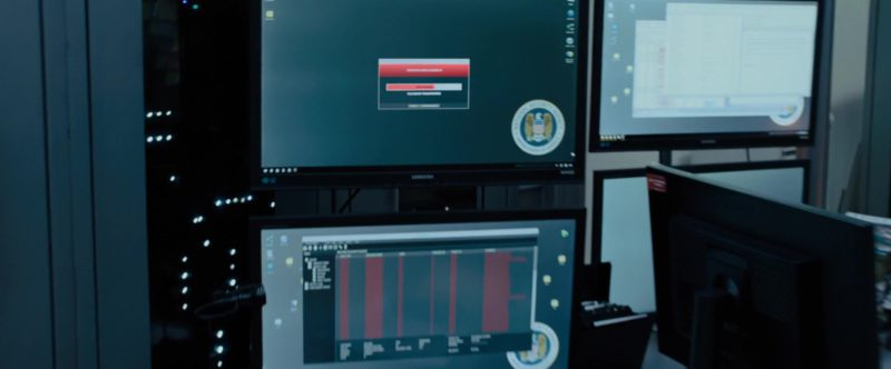 Samsung Monitors in The Girl in the Spider's Web (2018) Movie Product Placement