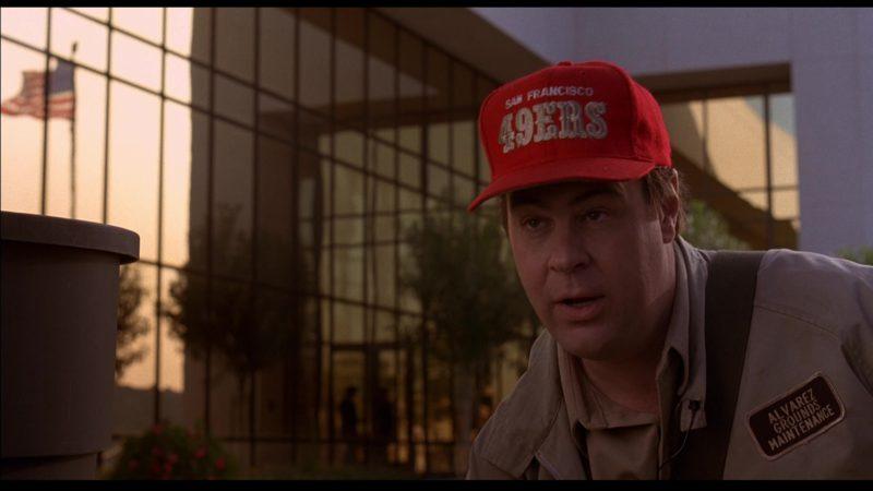 San Francisco 49ers Cap Worn by Dan Aykroyd in Sneakers (1992) Movie Product Placement