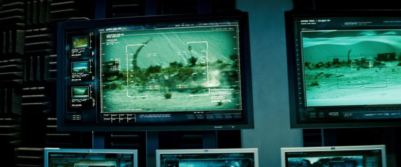 Sharp TV in Transformers (2007) - Movie Product Placement