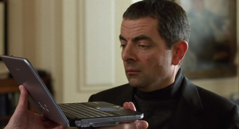 Sony Vaio Laptop in Johnny English (2003) Movie Product Placement