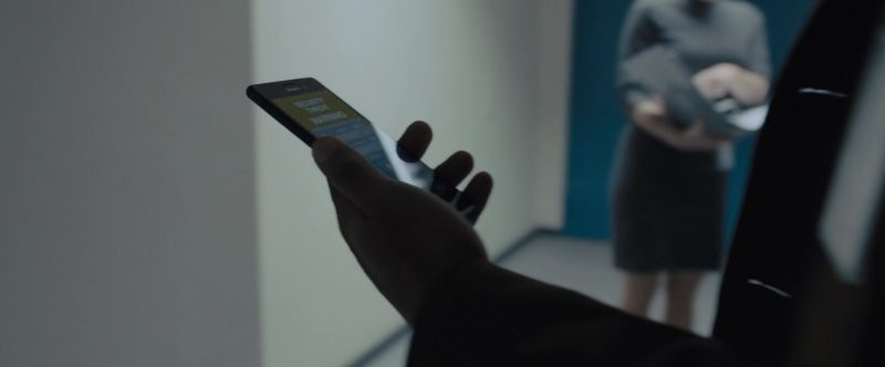 Sony Xperia Smartphone Used by Lakeith Stanfield in The Girl in the Spider's Web (2018) Movie Product Placement