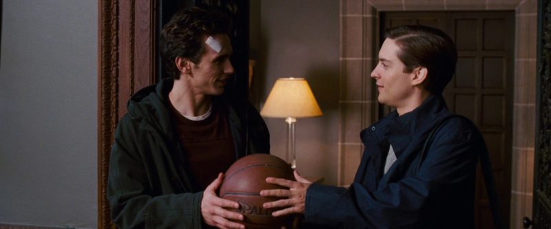 Spalding Basketball Held by Tobey Maguire in Spider-Man 3 (2007) Movie Product Placement