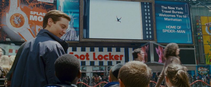 Swatch Watches Billboard and Foot Locker Sportswear & Footwear Store in Spider-Man 3 (2007) - Movie Product Placement