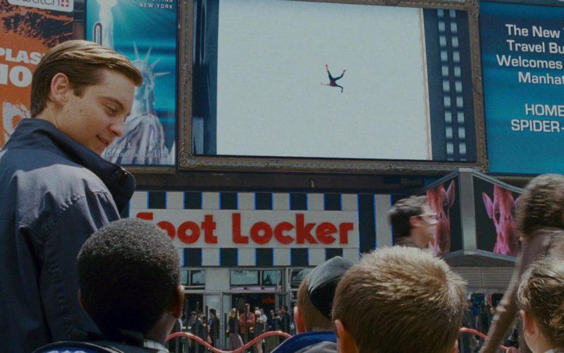 Swatch Watches Billboard and Foot Locker Sportswear & Footwear Store in Spider-Man 3