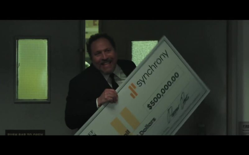 Synchrony Bank Big Check Held by Jon Favreau in Spider-Man Far From Home (3)