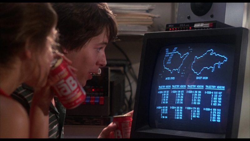 TAB Drinks in WarGames (1983) - Movie Product Placement