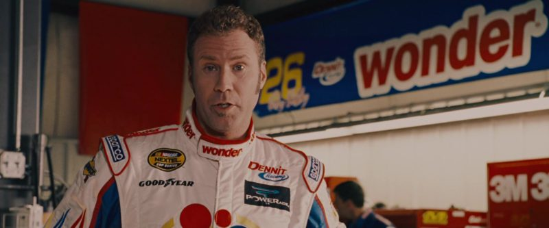 Wonder Bread, Sparco, Nascar Nextel Cup Series, Goodyear, Powerade Costume Worn by Will Ferrell in Talladega Nights: The Ballad of Ricky Bobby (2006) - Movie Product Placement