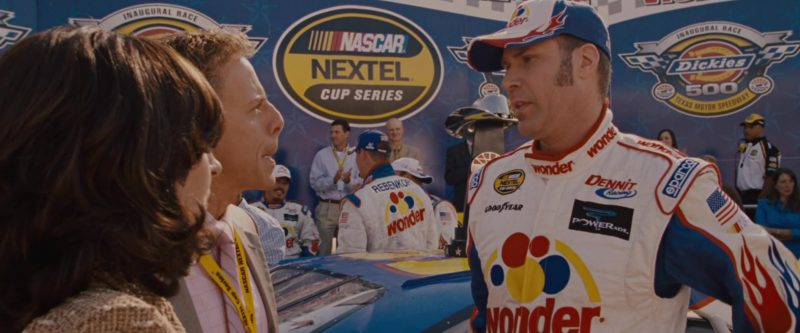 Wonder Bread, Nascar Nextel Cup Series, Goodyear, Sparco, Powerade in Talladega Nights: The Ballad of Ricky Bobby (2006) - Movie Product Placement