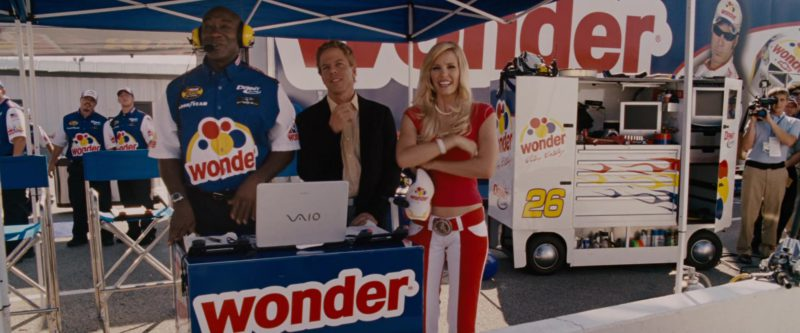 Sony Vaio Laptop Used by Michael Clarke Duncan and Wonder Bread in Talladega Nights: The Ballad of Ricky Bobby (2006) Movie Product Placement
