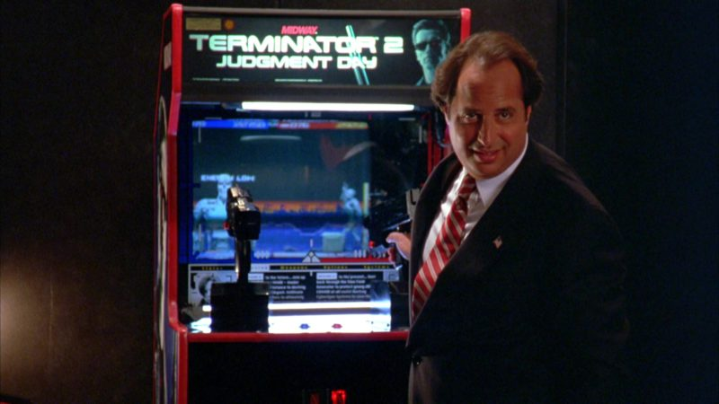 Terminator 2: Judgment Day Arcade Game Machine by Midway in North (1994) Movie Product Placement