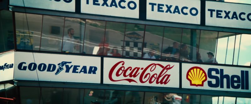 Texaco, Goodyear, Coca-Cola, Shell in Rush (2013) - Movie Product Placement