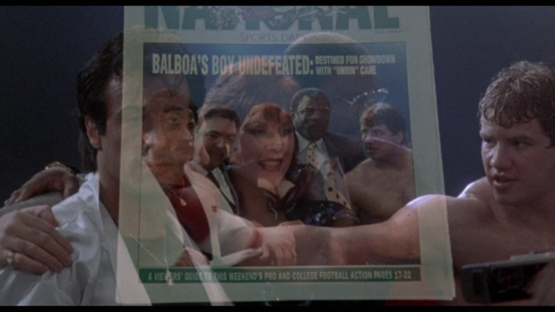The National Sports Daily Newspaper in Rocky 5 (1990) - Movie Product Placement