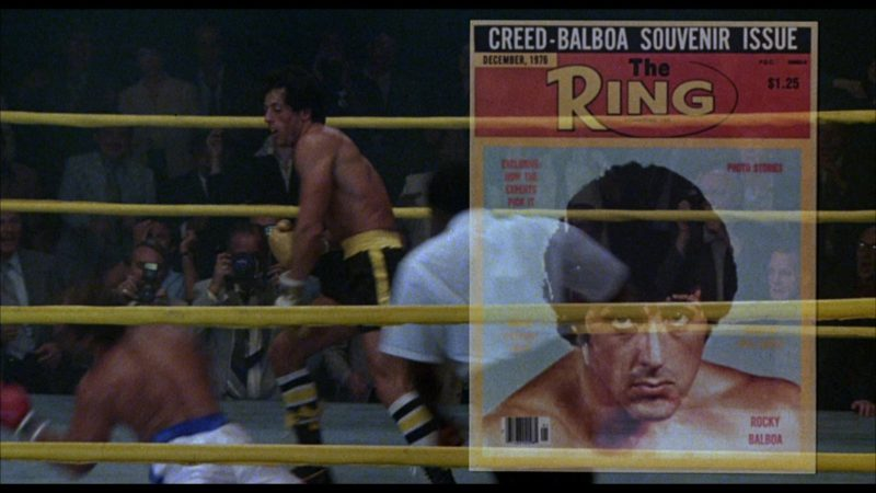 The Ring Magazine in Rocky 3 (1982) - Movie Product Placement