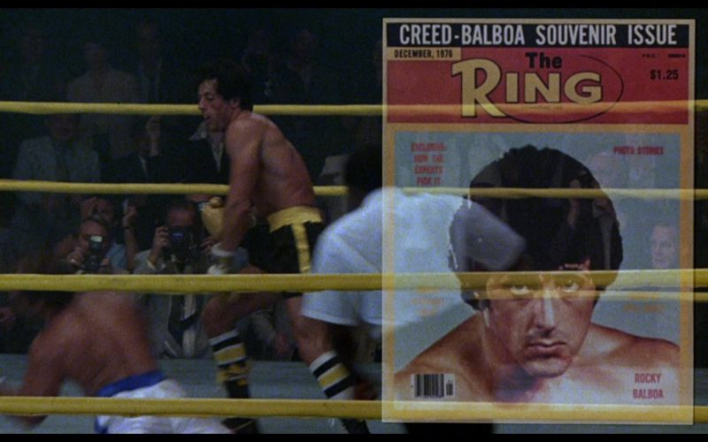 The Ring Magazine in Rocky 3