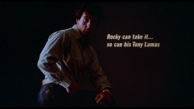 Tony Lama Jeans Worn by Sylvester Stallone (Rocky Balboa) in Rocky 3 (1982) - Movie Product Placement
