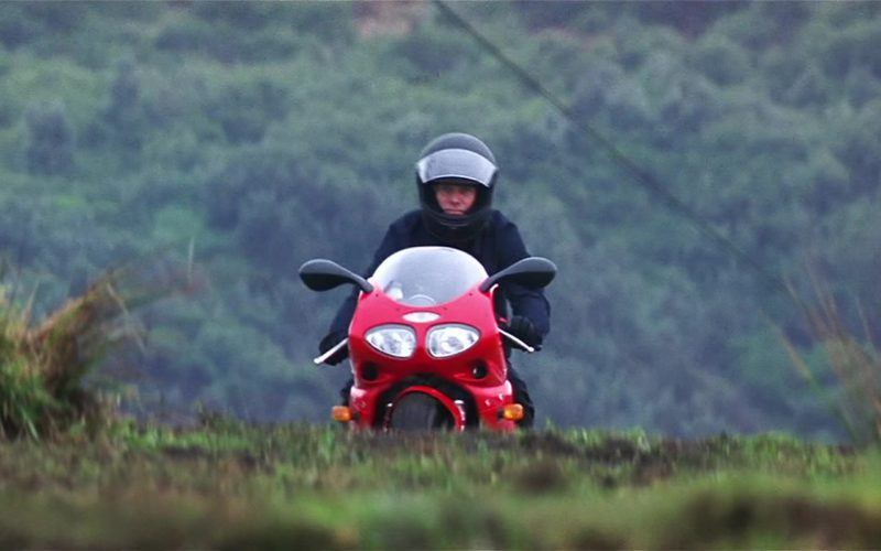 Triumph Daytona 955i Red Motorcycle Used by Dougray Scott in Mission Impossible II (1)