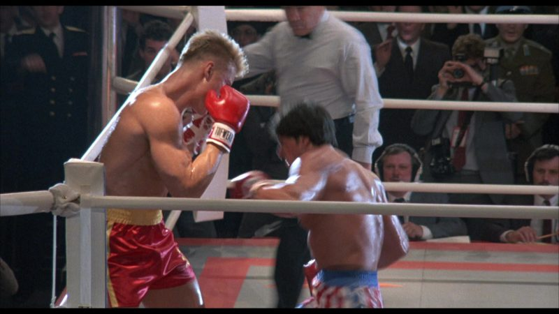 Tuf Wear Boxing Gloves Worn by Dolph Lundgren (Captain Ivan Drago) in Rocky 4 (1985) - Movie Product Placement