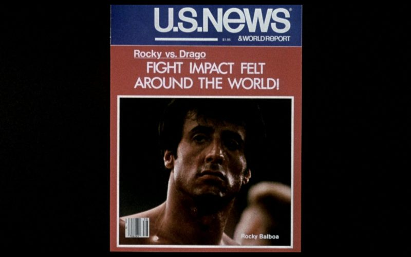 U.S. News & World Report Magazine in Rocky 4