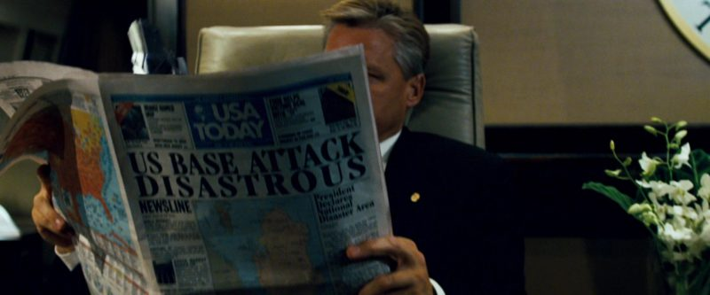 USA Today Newspaper in Transformers (2007) - Movie Product Placement