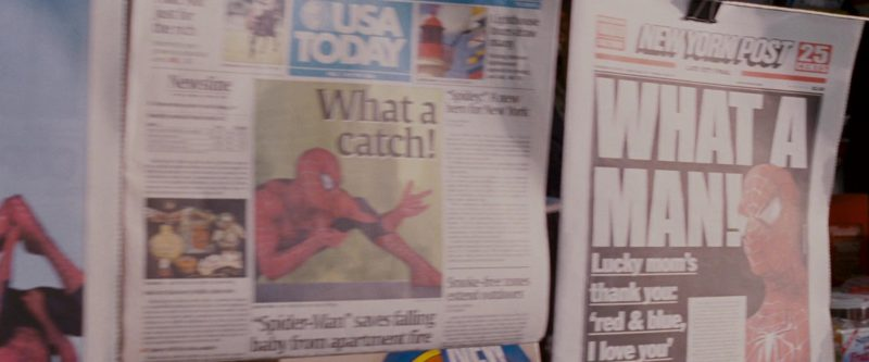 USA Today and New York Post Newspapers in Spider-Man 3 (2007) - Movie Product Placement