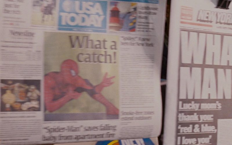 USA Today and New York Newspapers in Spider-Man 3