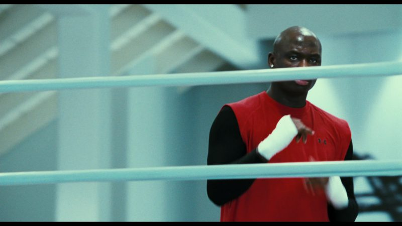 Under Armour Red T-Shirt Worn by Antonio Tarver in Rocky Balboa (2006) - Movie Product Placement