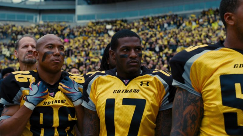 Under Armour Yellow Jerseys For American Football Players in The Dark Knight Rises (2012) - Movie Product Placement