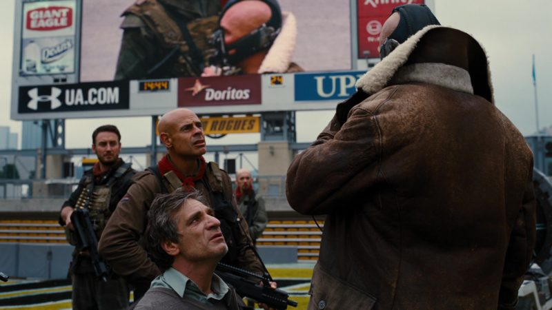 Under Armour and Doritos in The Dark Knight Rises (2012) - Movie Product Placement
