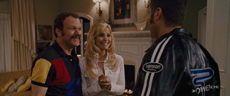 Vanson Leather Jacket x Powerade Drink Logo Worn by Will Ferrell in Talladega Nights: The Ballad of Ricky Bobby (2006) - Movie Product Placement