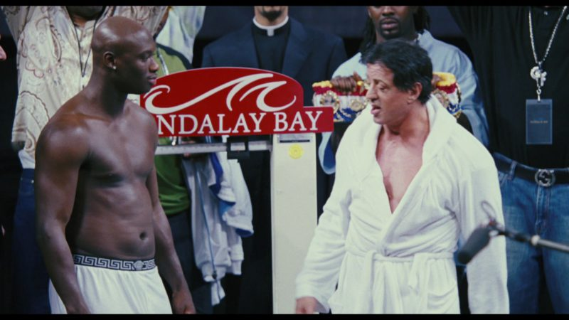 Versace Men's Underwear Worn by Antonio Tarver and Mandalay Bay in Rocky Balboa (2006) Movie Product Placement