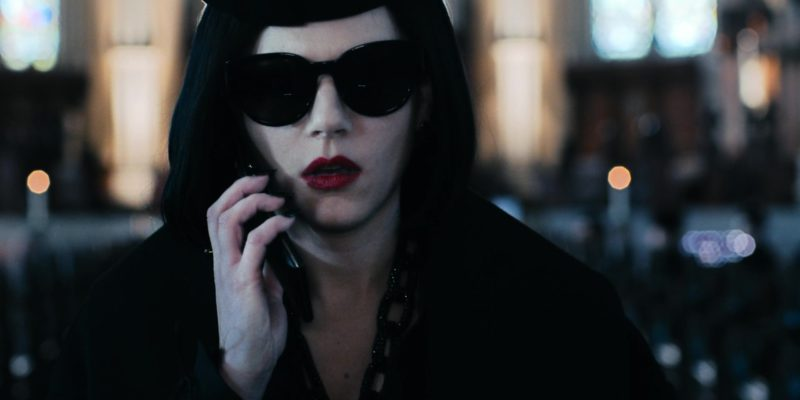 YSL Sunglasses Worn by Actress in Polar (2019) - Movie Product Placement