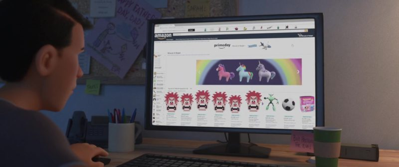 Amazon Website in Ralph Breaks the Internet (2018) Animation Movie Product Placement