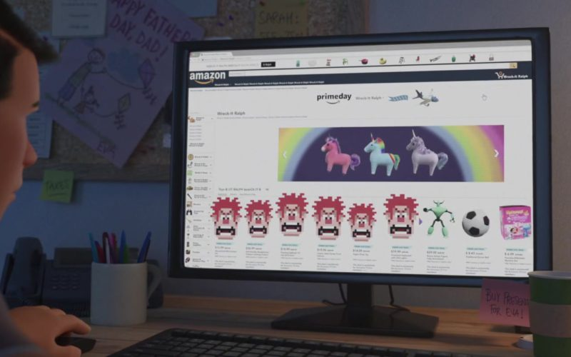 Amazon Website in Ralph Breaks the Internet