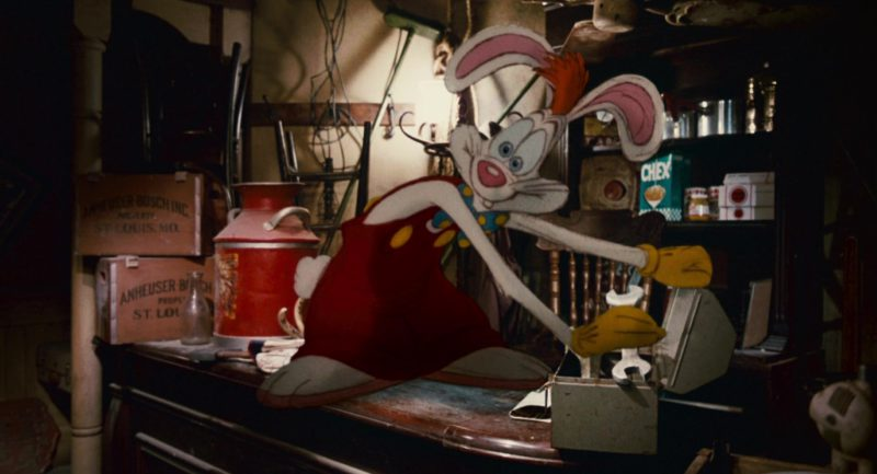 Anheuser-Busch Brewing Company Boxes and Chex Cereal in Who Framed Roger Rabbit (1988) - Movie Product Placement