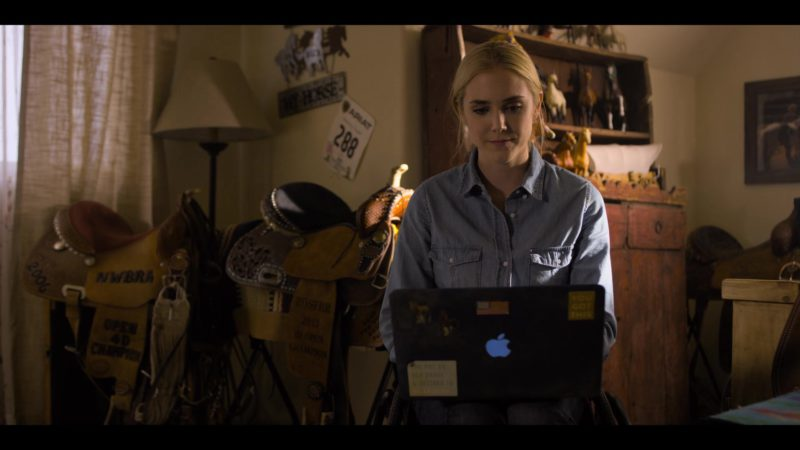 Apple MacBook Laptop Used by Spencer Locke in Walk. Ride. Rodeo. (2019) Movie Product Placement