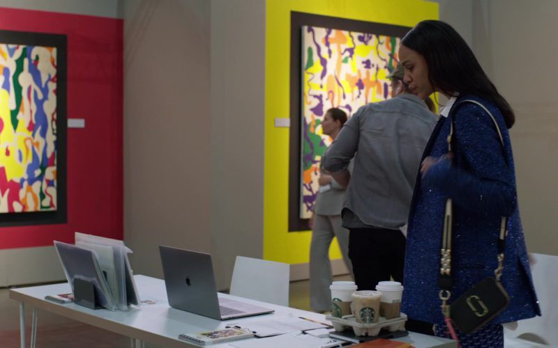 Apple MacBook Laptop and Starbucks Coffee in Velvet Buzzsaw