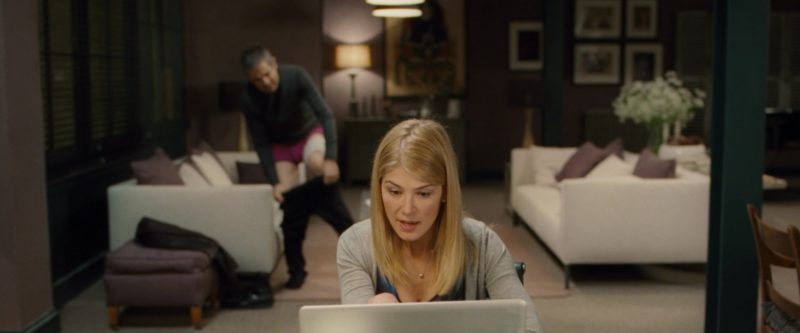 Apple MacBook Pro Laptop Used by Rosamund Pike in Johnny English Reborn (2011) - Movie Product Placement