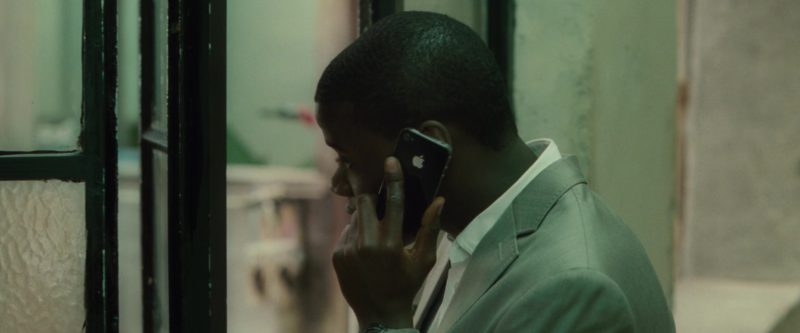 Apple iPhone Smartphone Used by Daniel Kaluuya in Johnny English Reborn (2011) Movie Product Placement