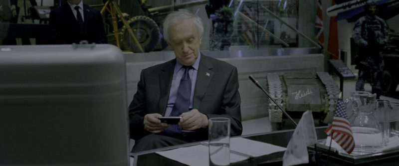 Apple iPhone Smartphone Used by Jonathan Pryce in G.I. Joe: Retaliation (2013) Movie Product Placement