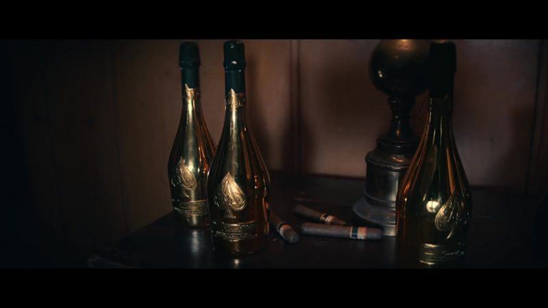 Armand De Brignac Brut Gold Sparkling Wine in Going Bad by Meek Mill feat. Drake (2019) Music Video Product Placement
