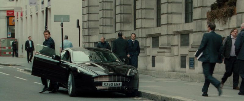 Aston Martin Rapide Black Sports Car in Johnny English Reborn (2011) - Movie Product Placement