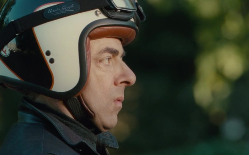 Aviator Goggles by Leon Jeantet and Bell Scooter Helmet Worn by Rowan Atkinson in Johnny English Reborn (1)