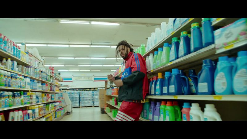 Balenciaga Men's Jacket Worn by J. Cole in Middle Child (2019) Official Music Video Product Placement