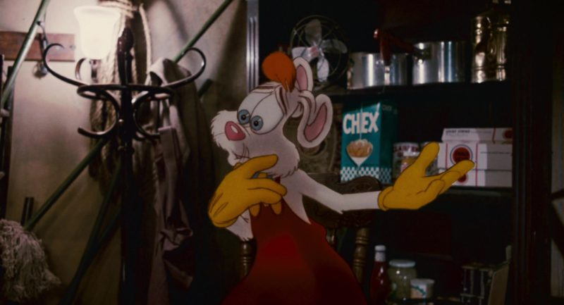 Chex Cereal and Lucky Strike Cigarettes in Who Framed Roger Rabbit (1988) Movie Product Placement