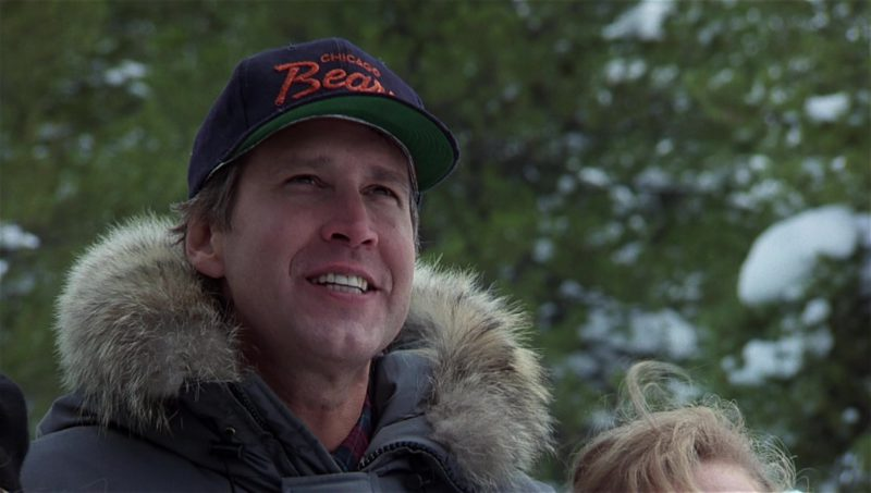 Chicago Bears American football team cap worn by Chevy Chase in National Lampoon's Vacation (1983) Movie Product Placement