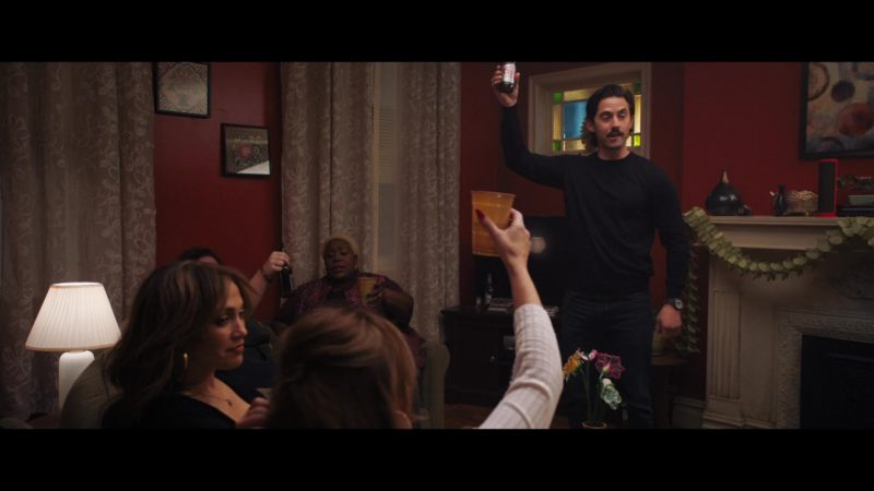 Coors Beer Bottle Held by Milo Ventimiglia in Second Act (2018) Movie Product Placement