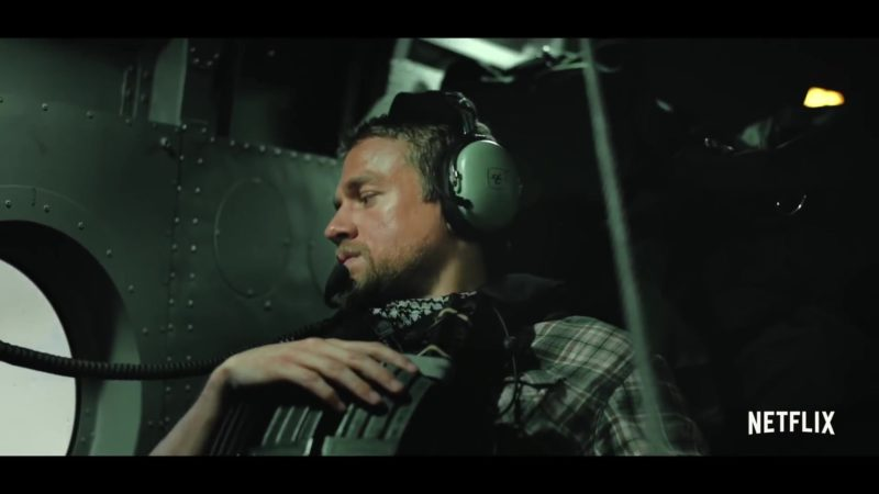 David Clark Headset Used by Charlie Hunnam in Triple Frontier (2019) Movie Product Placement