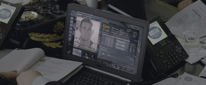 Dell Laptop And Cisco Telephone in G.I. Joe: Retaliation (2013) - Movie Product Placement