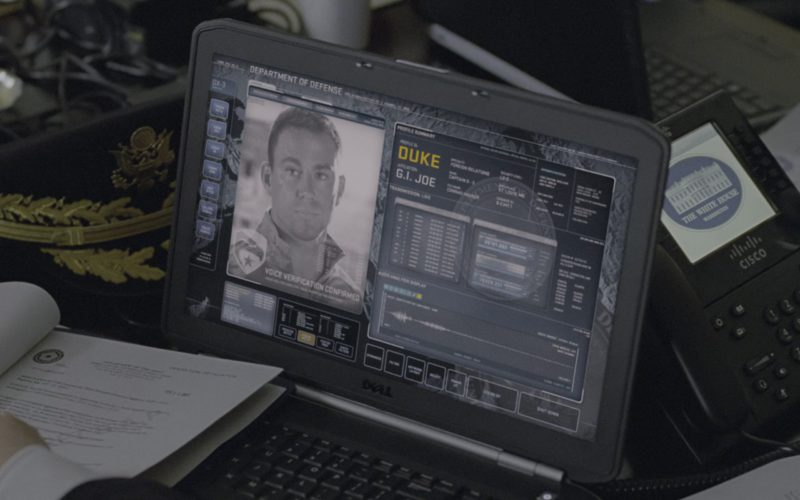 Dell Laptop And Cisco Telephone in G.I. Joe Retaliation